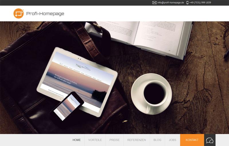 Profi-Homepage