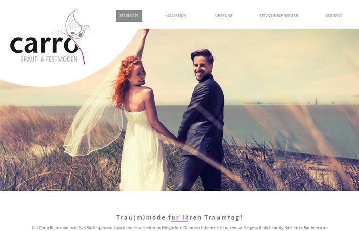 Beispiel Bildgestaltung Brautmoden Website