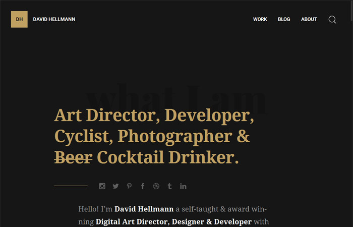 David Hellmann Beispiel Webdesign-Trends