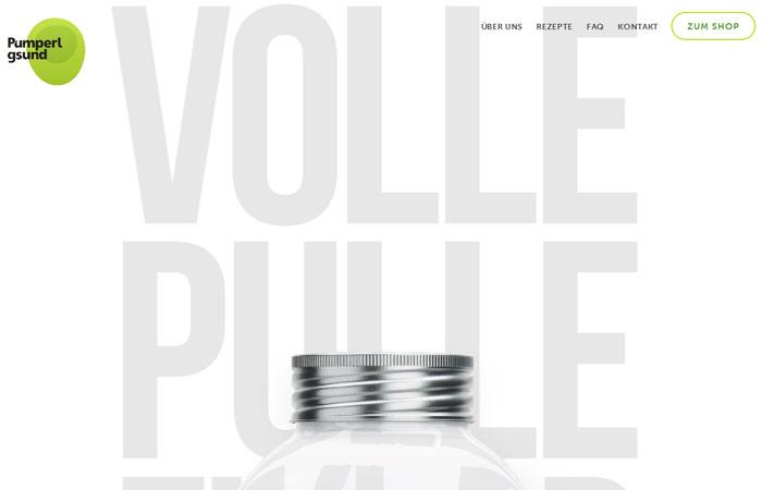 Pumperlsgsund Beispiel Webdesign-Trends