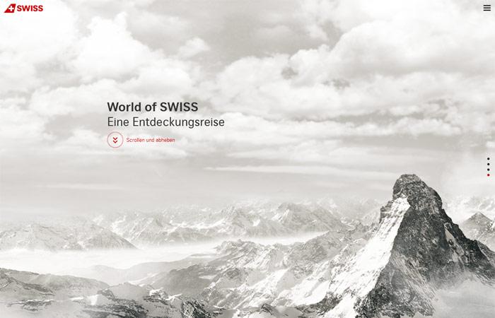 World of Swiss Beispiel Webdesign-Trends
