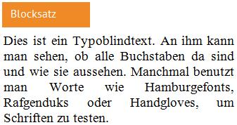 Blogbeitrag Typografie Blocksatz