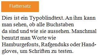 Blogbeitrag Typografie Flattersatz