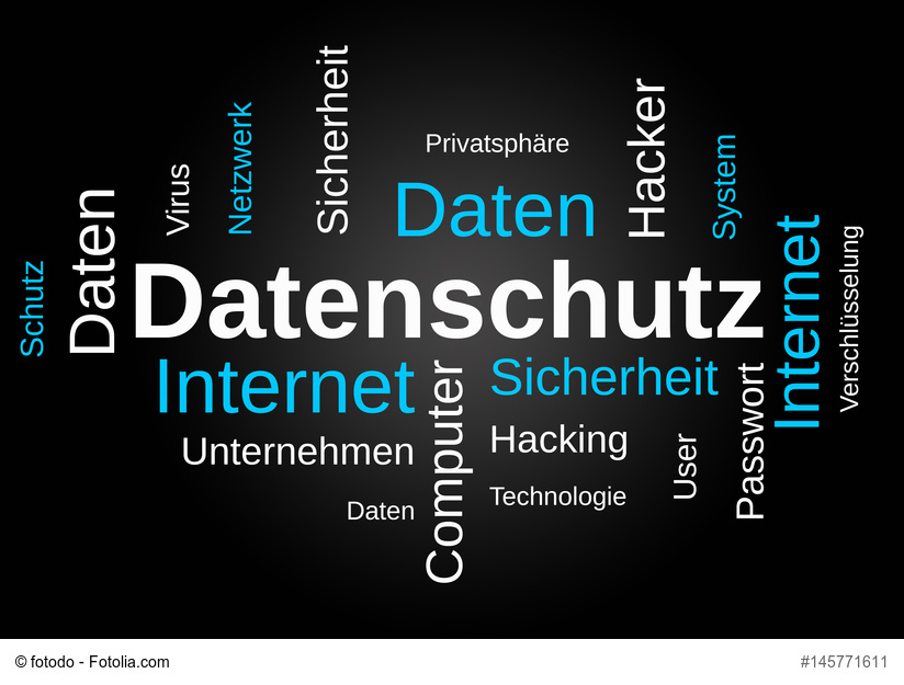 Datenschutz-Wordcloud