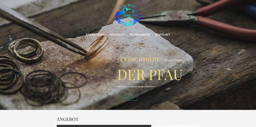 Webdesigntrends - Screenshot Goldschmiede Pfau