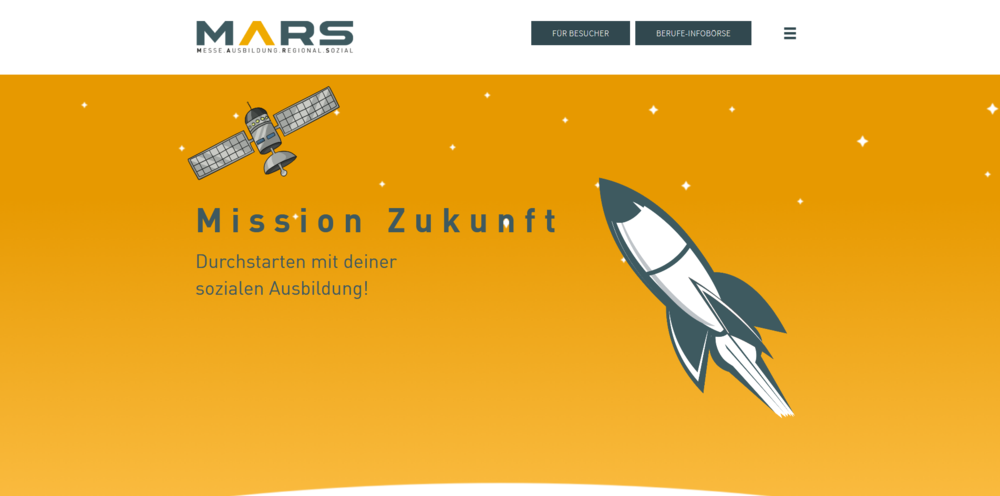 Webdesigntrends - Screenshot Messe Mars