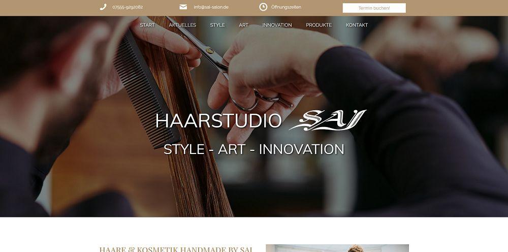 Webdesigntrends - Screenshot Friseur SAI