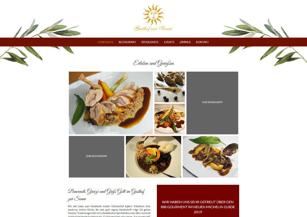Webdesigntrends - Screenshot Sonne Wiechs