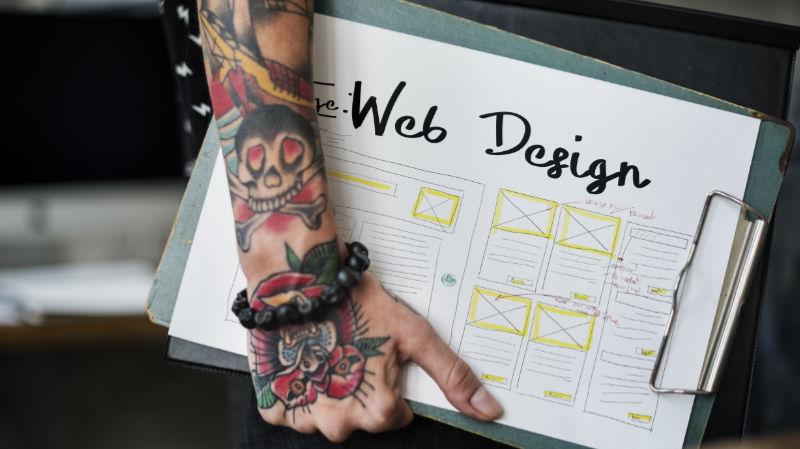Webdesigntrends - Beispiellayout
