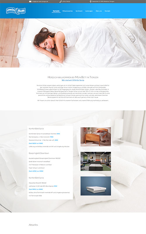 Mein Bett Tiengen Website